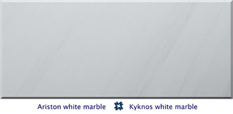 Ariston (Kyknos) white marble